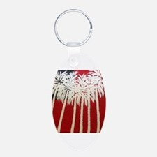 Patriotic Palm Trees Keychains
