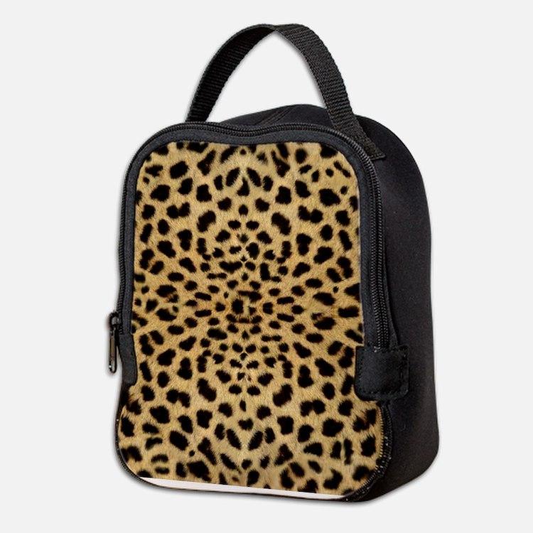 Cute Leopard skin Neoprene Lunch Bag
