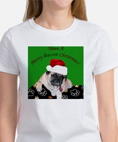Christmas Bacon Pug Tee