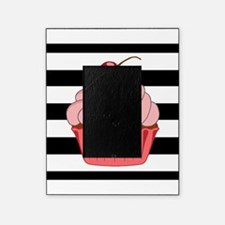 Pink Cupcake on Stripes Picture Frame