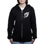 Flaming Basketball Women's Zip Hoodie