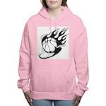 Flaming Basketball Women's Hooded Sweatshirt