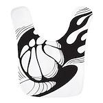 Flaming Basketball Bib