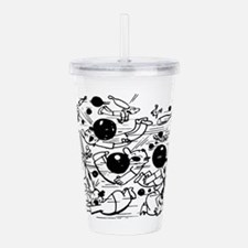 Funny Bowling Fight Acrylic Double-wall Tumbler