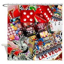 Cute Gambler Shower Curtain