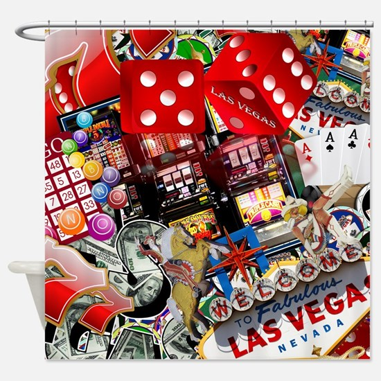 cute las vegas shower curtain - Bathroom Accessories Las Vegas
