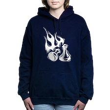 Flaming Chess Women's Hooded Sweatshirt