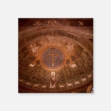 "Ravenna. St. Apollinaire in Square Sticker 3"" x 3"""
