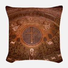 Ravenna. St. Apollinaire in Cl Woven Throw Pillow