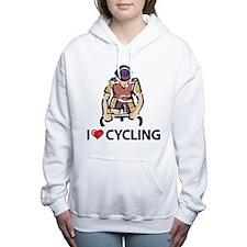 I Love Cycling Women's Hooded Sweatshirt