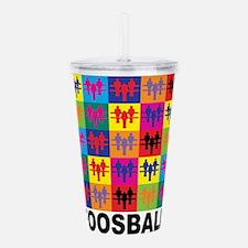 Pop Art Foosball Acrylic Double-wall Tumbler