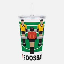 I Love Foosball Acrylic Double-wall Tumbler