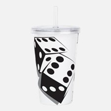 Retro Dice Acrylic Double-wall Tumbler
