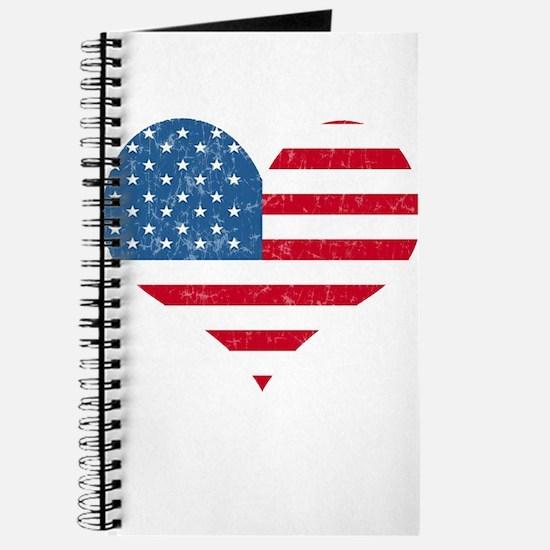 American Flag Heart Journal
