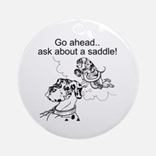 NH Go Ahead Ask Ornament (Round)