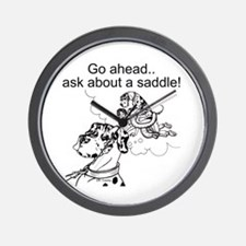 NH Go Ahead Ask Wall Clock