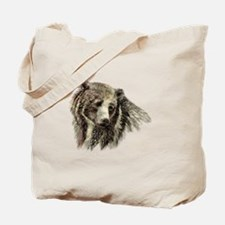 Watercolor Grizzly Bear Animal Nature Art Tote Bag