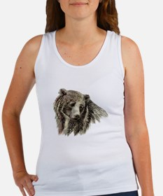 Watercolor Grizzly Bear Animal Nature Art Tank Top