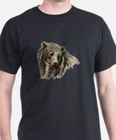 Watercolor Grizzly Bear Animal Nature Art T-Shirt