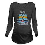 Ice Hockey Long Sleeve Maternity T-Shirt