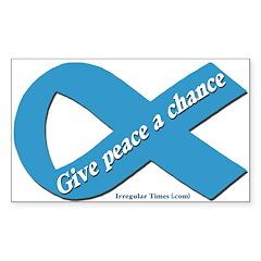 Peace Blue Ribbon Bumper Decal
