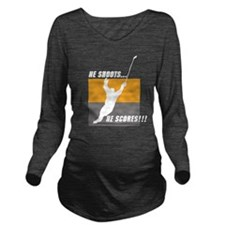 Hockey Long Sleeve Maternity T-Shirt