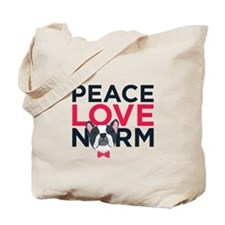 Peace, Love, Norm Tote Bag