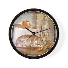Herculaneum. Still life panel, 1st cent Wall Clock