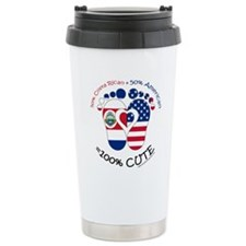 Costa Rican American Ba Travel Coffee Mug