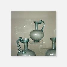 """Roman glass ITALY. Square Sticker 3"""" x 3"""""""