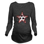 Soccer Star Long Sleeve Maternity T-Shirt