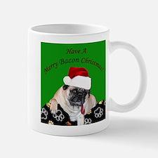 Christmas Bacon Pug Mugs