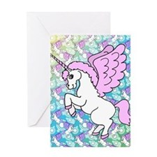 Colorful Unicorn Pattern Greeting Cards