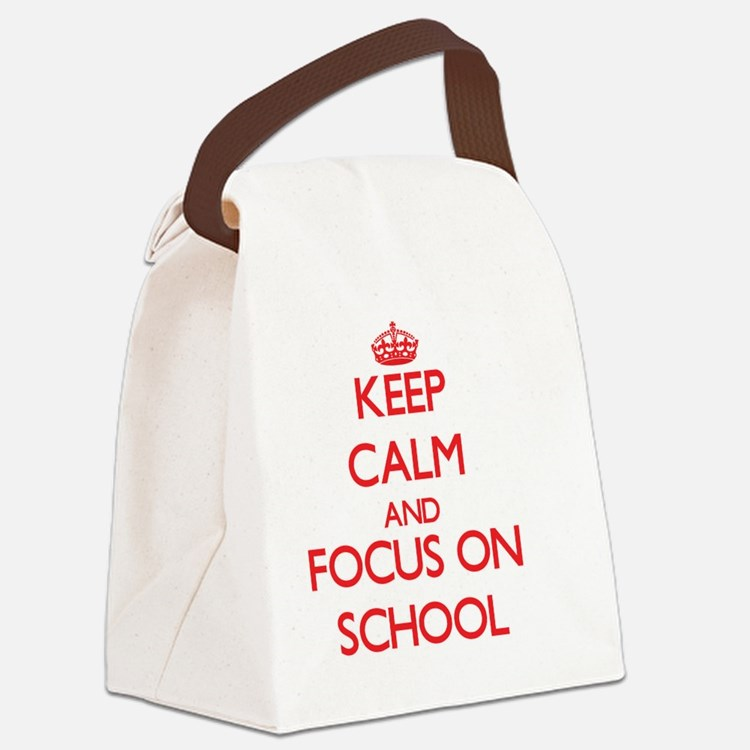 Cute Alma mater Canvas Lunch Bag