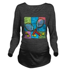 Tennis Puzzle Long Sleeve Maternity T-Shirt