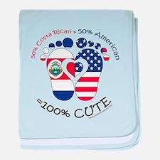 Costa Rican American Baby baby blanket