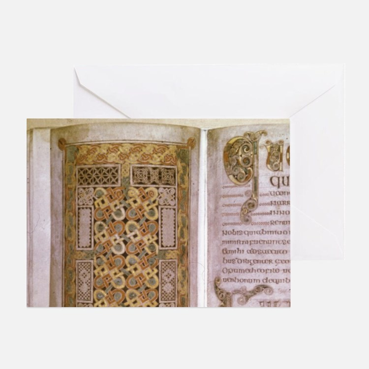The Book of Durrow, Dublin, 8th cent Greeting Card