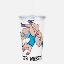 Let's Wrestle Acrylic Double-wall Tumbler