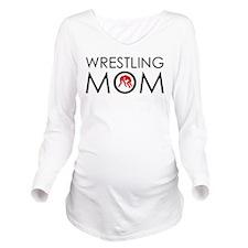 Wrestlig Mom Long Sleeve Maternity T-Shirt