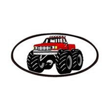 Red MONSTER Truck Patches