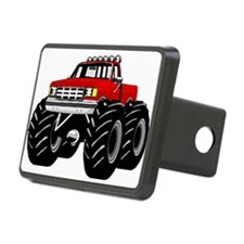 Red MONSTER Truck Hitch Cover