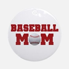 Baseball Mom Ornament (Round)