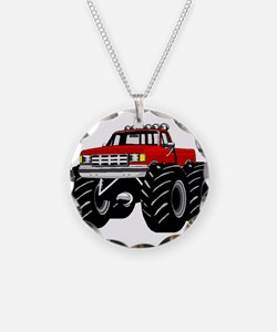 Red MONSTER Truck Necklace