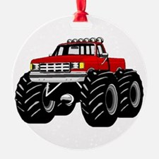 Red MONSTER Truck Ornament
