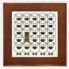 Kelpie and Sheep Framed Tile