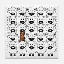 Kelpie and Sheep Tile Coaster