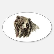 Watercolor Grizzly Bear Animal Nature Art Decal