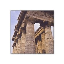 "Paestum. Temple of Naptune  Square Sticker 3"" x 3"""
