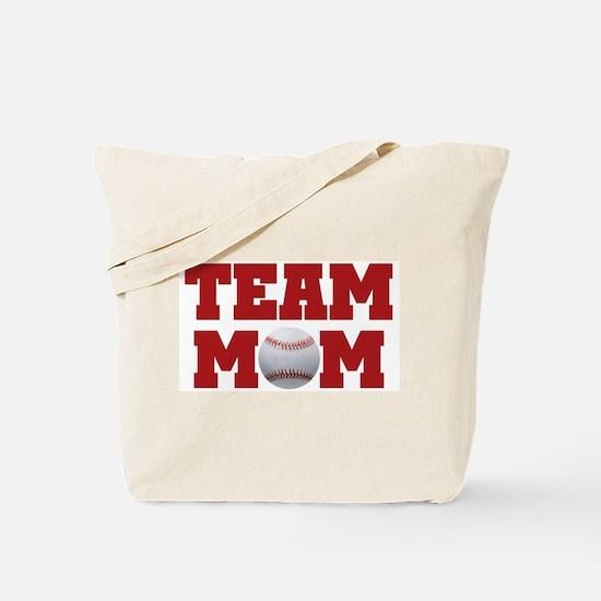 Baseball Team Mom Tote Bag