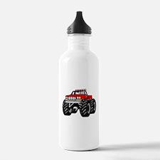 Red MONSTER Truck Water Bottle